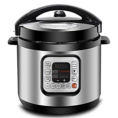 ZENY 6Qt 10-in-1 Multi-Use Pressure Cooker Programmable with Stainless Steel Pot, Rice Cooker, Slow Cooker, Yogurt Maker, Bean Cooker, Meat Stew, Sauté Steamer & Warmer