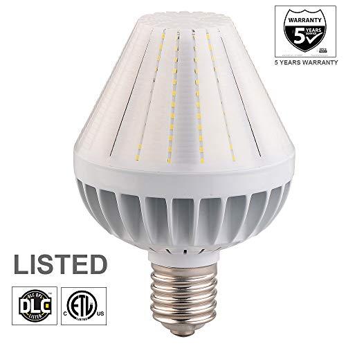 80W LED Corn Light Bulb, 10400lm High Lumen Led Flood Light Bulbs, 5000K Cone Led Bulbs with Mogul E39 & Medium E26 Base (Interchangeable) for Garden Post Top Acorn Lighting