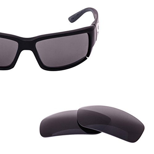 LenzFlip Lens Replacement for Costa Del Mar FANTAIL Sunglass Frame - Gray Polarized - Sunglasses Cheap Costa