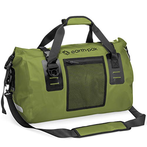 Earth Pak Waterproof Duffel Bag- Perfect for Any Kind of Travel, Lightweight, 50L & 70L Sizes, Large Storage Space, Durable Straps and Handles, Heavy Duty Material to Keep Your Gear Safe