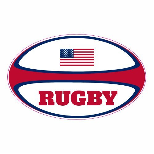 U S  Custom Stickers American Flag Rugby Ball Sticker, 3