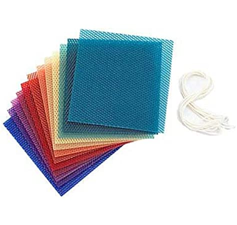 "WAX SHEETS CANDLE MAKING 8 PIECES 8/"" X 4/"" 15 COLOUR OPTIONS FREE DELIVERY"