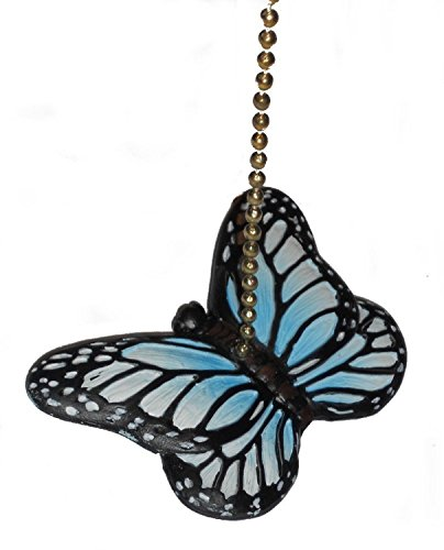 Pull Butterfly Fan Ceiling (Blue Butterfly Fan Pull Decorative Light Chain by Clementine Design)