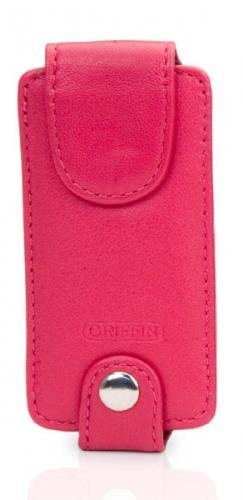 Trio Ipod Nano Leather Case - Griffin Trio 3-in-1 Interchangeable Leather Case for iPod nano 1G, 2G (Fuschia)