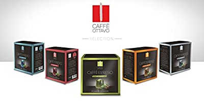 Nespresso Compatible Coffee Capsules -Caffe Ottavo 100 Variety Pack of Sublime, Gran Gusto, Intenso, Lungo & Fortissimo from Caffe Ottavo