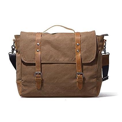 1e31184f5e2f Amazon.com: KEROUSIDEN Men's Postman Bag Tide Bag Retro Backpack ...