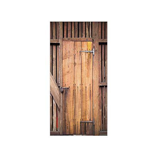 Decorative Privacy Window Film Dated Simple Door Like In