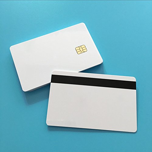 Fargo Hdp5000 Magnetic Stripe - JEERUI 200PCS/Lot Customizable 2 in 1 SLE4442 With 2 track 8.4mm Magnetic Stripe Smart Chip PVC Card Blank Card Printable