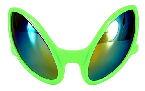 Alien Themed Costumes (Close Encounter Green Glasses with Rainbow Lenses by elope)
