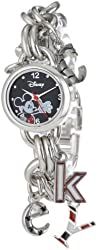 Disney Women's MK2067 Mickey Mouse Black Dial Charm Watch