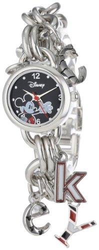 Disney Women's MK2067 Mickey Mouse Black Dial Charm (Disney Mickey Round Charm)