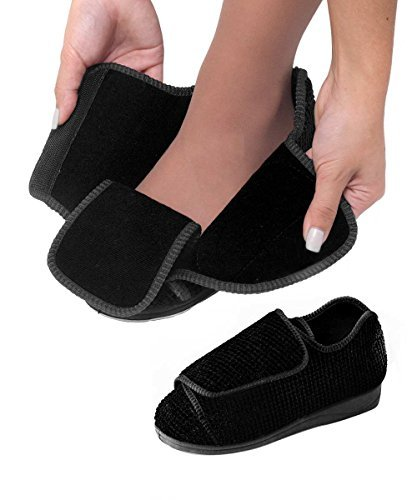 cd2fca86ef7 Buy Womens Extra Extra Wide Width Adjustable Slippers - VELCRO brand  Diabetic   Online at Low Prices in India - Amazon.in