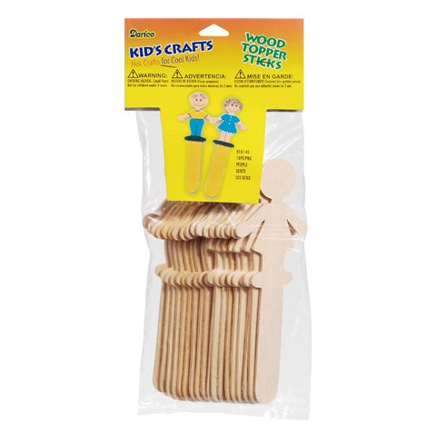 Wood People Sticks 6 inches - 18 pieces (Wood Person compare prices)