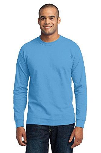 Port & Company Mens Tall Long Sleeve 50/50 Cotton/Poly T Shirt