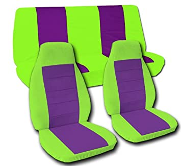 Peachy Amazon Com Complete Set Of Seat Covers Lime Green And Cjindustries Chair Design For Home Cjindustriesco