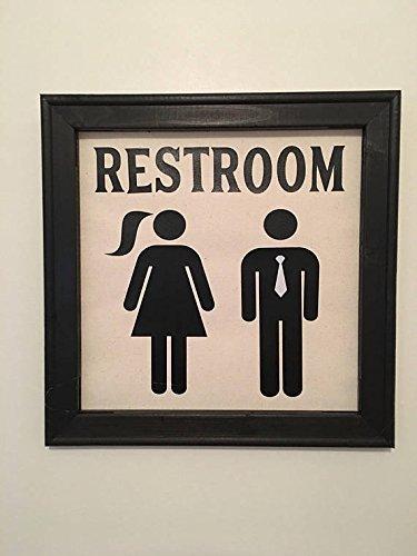 Amazon Com Restroom Man Woman Farmhouse Style Bathroom Decor