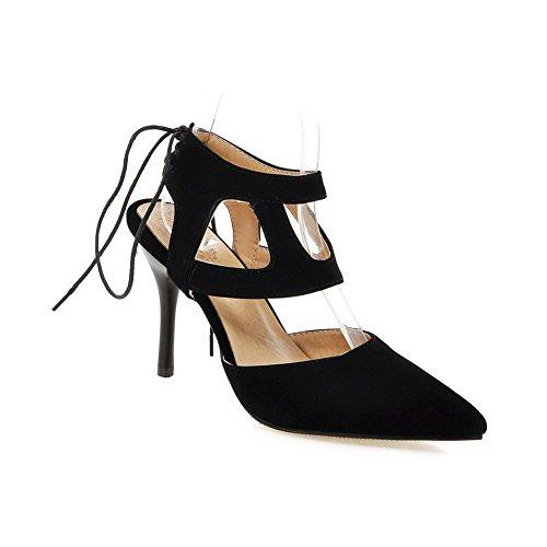 Compensées ASL05536 Sandales 36 Noir Femme 5 BalaMasa Noir fw8qq6