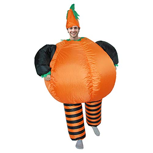 MoreToys Inflatable Pumkin Halloween Blow Up Costume Fancy Dress Cosplay for Adults (Adult's -