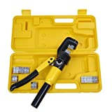 10 Ton Hydraulic Wire Terminal Battery Cable Crimper Including 9 Dies