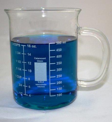 600ml Glass Beaker Mug with Handle