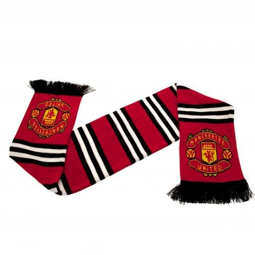Manchester United FC Authentic EPL Stripe Scarf - UK Import - Manchester United Stripe