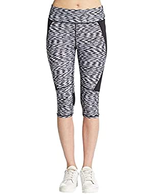Performance Women's Space-Dyed High Waist Cropped Leggings