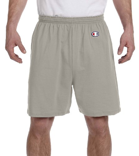 Champion Men's  6-Inch Oxford Gray   Cotton Jersey Shorts - Small