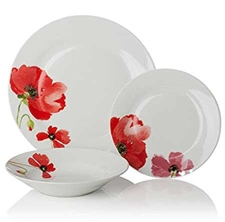 Sabichi Poppy Dinner Set Red 12-Piece Sc 1 St Amazon UK  sc 1 st  pezcame.com & Poppy Tableware Uk \u0026 100 Years Of Royal Albert - 1970 Poppy 15 Piece ...