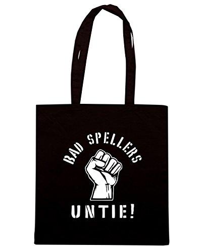 T-Shirtshock - Bolsa para la compra FUN0228 09 17 2012 Bad Spellers T SHIRT det Negro