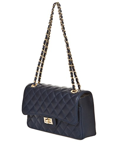 Mujer Markese Bolso Handbag Hombro Noche Al Asa Azul XwR8wSaq