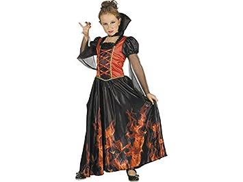 DISONIL Disfraz Niña Vampiresa Fuego Talla L: Amazon.es: Juguetes ...