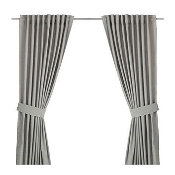 Amazon.de: IKEA Vorhang-Set INGERT - zwei blickdichte Gardinen mit ...