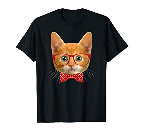 Tabby Cat Lover Orange Hipster Cat Shirt Kitty Mama Gift