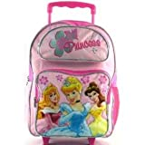 Disney Princess Rolling Backpack in Pink, 16- Inch Large Wheeled School Bag For Children (Dimension: 16- Inch x 11.5- Inch x 5.5- Inch; Weight: 2.1lb)