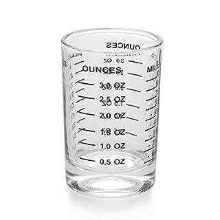Shot Glass Measuring Cup 3 Ounce/90ML Liquid Heavy High Espresso Glass Cup Black Line