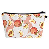 Polytree Makeup Bag, Portable Peach Printed Travel Zipper Toiletry Pouch Cosmetic Organiser