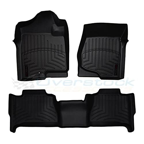 Wholesale 2011-2015 Fiat 500-Weathertech Floor Liners-Full Set (Includes 1st and 2nd Row) Black hot sale