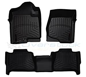 2013-2016 Honda Accord-Weathertech Floor Liners-Full Set (Includes 1st and 2nd Row)-Fits Sedan Only-Black