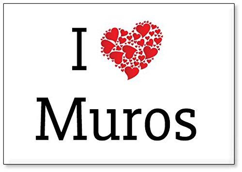 I Love Muros, fridge magnet (design 3) - Muro Magnet