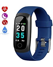 HETP Fitness Tracker, Heart Rate Activity Tracker Fitness Wristband Smart Watch Waterproof IP67 Blood Pressure Smart Bracelet with Stopwatch Sport GPS Sleep Monitor Pedometer Calorie Women Men