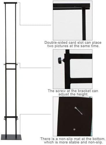 Heavy-Duty Snap Frame Sign Holder Floor Standing 2 Pack Snap Frame Poster Sign Holder Both Height and Angle can be Adjusted Black A4,Black 8.5x11 Shipping from SF.CA USA