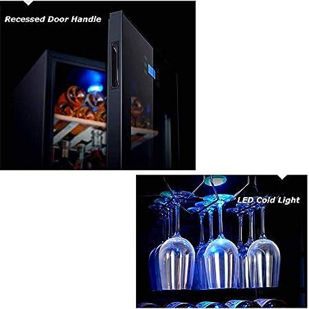 Refrigerador de Vino con Control táctil, refrigerador y Enfriador Uniformes Independientes de una Sola Zona para vinos tintos y Blancos