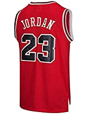 Shelfin NBA Jerseys Heren Jerseys, NBA #23 Michael Jordan Bulls Retro, Retro Basketball Spelers Jerseys, Ademende Draagbare Geborduurde Heren T-Shirts