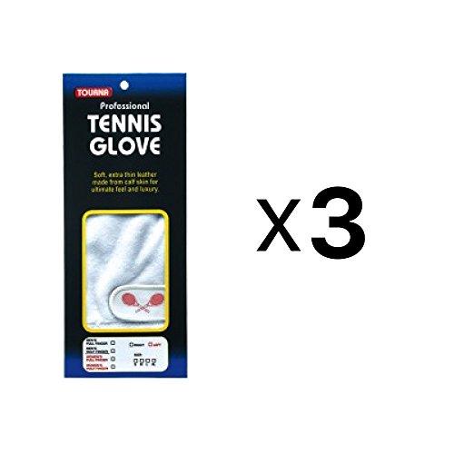 Unique Sports Tourna Men's Half Finger Tennis Glove Sheepskin Leather Right Hand L ()