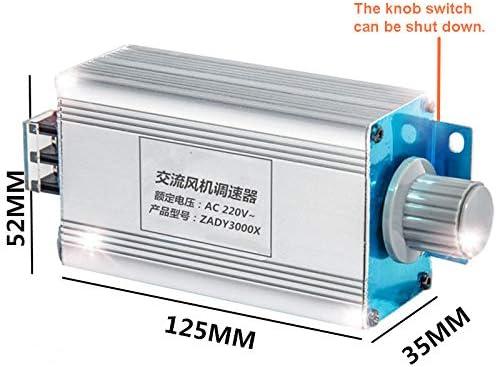 AC220V-Hochleistungs-AC-Ventilator-Motordrehzahlregler Gebl/äse stufenlos Drehzahlschalter AC-Motorl/üfter-Regler L/üfter stufenloser Drehzahlschalter einstellbarer piezoelektrischer Ofenthermostat