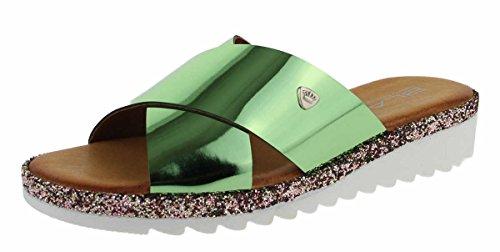 BLACK Damen 272 193 Pantoletten Grün (Green)