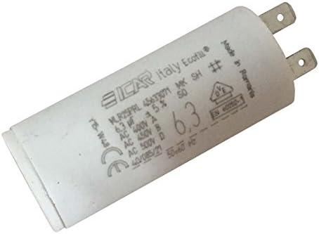 Condensador permanente de bornes, 6,3µF.