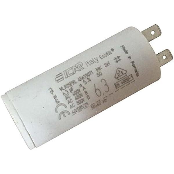 Condensador permanente de bornes, 6,3 µF.: Amazon.es: Iluminación
