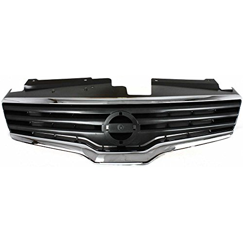 Grille for Nissan Altima 07-09 Chrome Shell/Painted-Dark Gray Insert Sedan ()