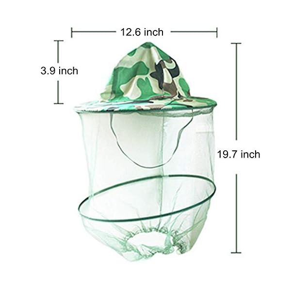 YouU 2 Pack Camouflage Apicoltura Apicoltore Anti-zanzara Ape Bug Insetto Fly Mask cap Hat con Testa Net Mesh Protezione… 2 spesavip